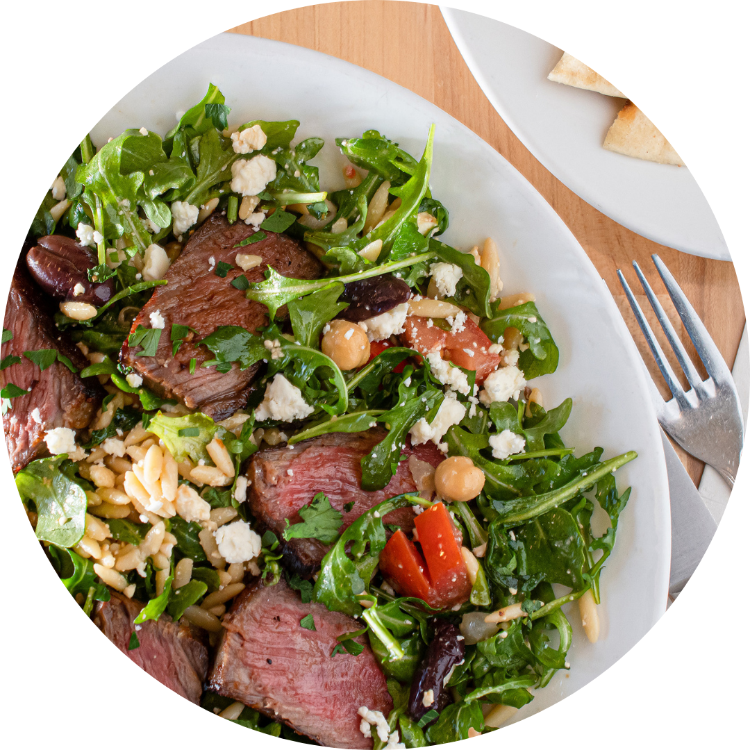 Steak Orzo Salad